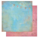 Glitz Design - Afternoon Muse Collection - 12 x 12 Double Sided Paper - Banner, CLEARANCE