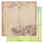 Glitz Design - Afternoon Muse Collection - 12 x 12 Double Sided Paper - Carte Postal, CLEARANCE