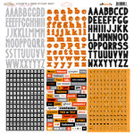 Glitz Design - Raven Collection - Halloween - 12 x 12 Cardstock Stickers - Alphabets and Words