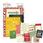 Glitz Design - Hello December Collection - Christmas - Cardstock Pieces - Bits and Pieces