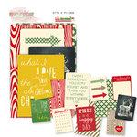 Glitz Design - Hello December Collection - Christmas - Cardstock Pieces - Bits and Pieces