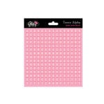 Glitz Design - Cardstock Stickers - Teeny Alphabet - Baby Pink, CLEARANCE