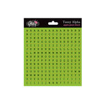 Glitz Design - Cardstock Stickers - Teeny Alphabet - Green Apple, CLEARANCE