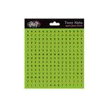 Glitz Design - Cardstock Stickers - Teeny Alphabet - Green Apple, CLEARANCE