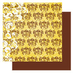 Glitz Designs - Camelot Collection - 12x12 Double Sided Paper - Camelot Crest, CLEARANCE