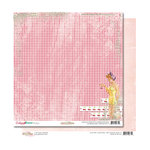 Glitz Design - Cashmere Dame Collection - 12 x 12 Double Sided Paper - Gingham