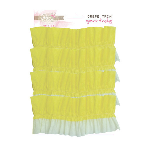 Glitz Design - Yours Truly Collection - Gathered Crepe Trim