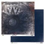Glitz Design - Detour Collection - 12 x 12 Double Sided Paper - Detour Compass, BRAND NEW