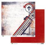 Glitz Design - Detour Collection - 12 x 12 Double Sided Paper - Detour Arrows, CLEARANCE