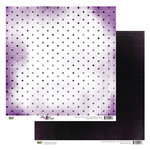 Glitz Design - Plum Crazy Collection - 12 x 12 Double Sided Paper - Plum Crazy Polka, BRAND NEW