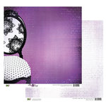 Glitz Design - Plum Crazy Collection - 12 x 12 Double Sided Paper - Plum Crazy Chair, BRAND NEW