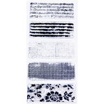 Glitz Design - Clear Acrylic Stamps - Distressing Set Two, BRAND NEW