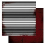 Glitz Design - Distressed Couture Collection - 12 x 12 Double Sided Paper - Stripe, CLEARANCE