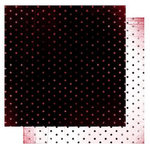 Glitz Design - Distressed Couture Collection - 12 x 12 Double Sided Paper - Polka, CLEARANCE