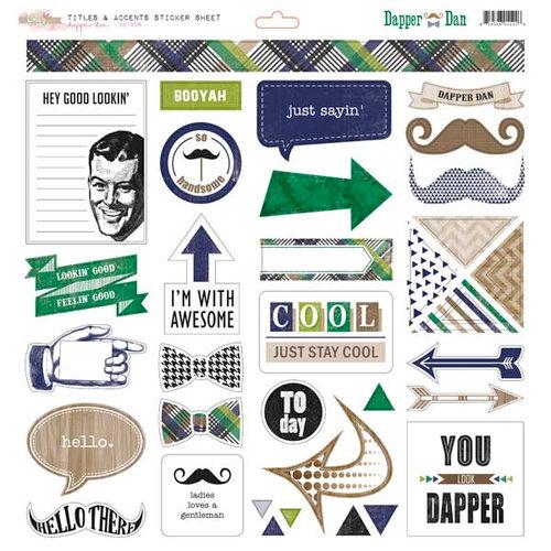 Glitz Design - Dapper Dan Collection - 12 x 12 Cardstock Stickers - Titles and Accents