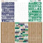 Glitz Design - Dapper Dan Collection - 12 x 12 Cardstock Stickers - Alphabets and Words