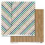 Glitz Design - Dapper Dan Collection - 12 x 12 Double Sided Paper - Stripes