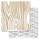 Glitz Design - Dapper Dan Collection - 12 x 12 Double Sided Paper - Woodgrain
