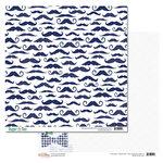 Glitz Design - Dapper Dan Collection - 12 x 12 Double Sided Paper - Mustaches