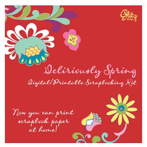 Glitz Design - Deliriously Spring Collection - Digital Printable CD, CLEARANCE