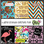 Glitz Design - Digital Printable CD - 6 Digital Scrapbook Collections, CLEARANCE