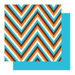 Glitz Designs - Dozer Collection - 12x12 Double Sided Paper - Dozer Chevron Stripe, CLEARANCE