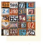 Glitz Design - Dozer Collection - 12x12 Double Sided Paper - Dozer Numbers, CLEARANCE