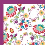 Glitz Designs - Deliriously Spring Collection - 12x12 Double Sided Paper - Spring Floral