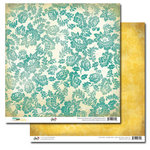 Glitz Design - Dance in Sunshine Collection - 12 x 12 Double Sided Paper - Damask