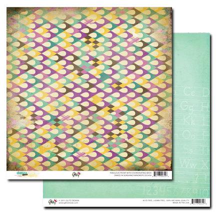 Glitz Design - Dance in Sunshine Collection - 12 x 12 Double Sided Paper - Raindrops