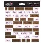 Glitz Design - Pretty in Pink Collection - Epoxy Stickers