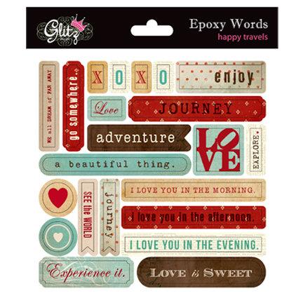 Glitz Design - Happy Travels Collection - Epoxy Stickers
