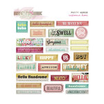 Glitz Design - Cashmere Dame Collection - Puffy Stickers - Words
