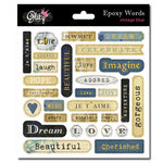 Glitz Design - Vintage Blue Collection - Epoxy Stickers