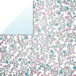 Glitz Design - Felicity Collection - 12 x 12 Double Sided Paper - Floral