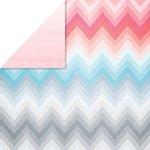 Glitz Design - Felicity Collection - 12 x 12 Double Sided Paper - Chevron