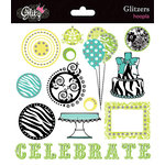 Glitz Design - Hoopla Collection - Glitzers - Transparent Stickers with Jewels - Hoopla