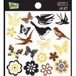 Glitz Design - Gigi Collection - Glitzers - Transparent Stickers - Garden, CLEARANCE