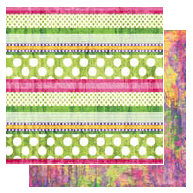 Glitz Design - Gigi Collection - 12x12 Double Sided Paper - Stripe, CLEARANCE