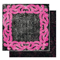 Glitz Design - Glam Collection - 12x12 Double Sided Paper - Frame, CLEARANCE