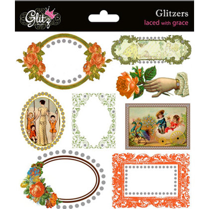 Glitz Design - Laced with Grace Collection - Glitzers - Transparent Stickers with Jewels