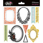Glitz Design - Love Games Collection - Glitzers - Transparent Stickers with Jewels