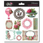 Glitz Design - Beautiful Dreamer Collection - Glitzers - Transparent Stickers with Jewels
