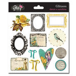 Glitz Design - Dance in Sunshine Collection - Glitzers - Transparent Stickers with Jewels