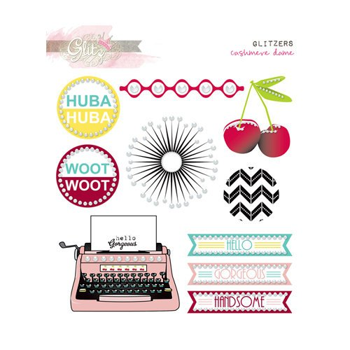 Glitz Design - Cashmere Dame Collection - Glitzers - Transparent Stickers with Jewels