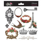 Glitz Design - French Kiss Collection - Glitzers - Transparent Stickers with Jewels