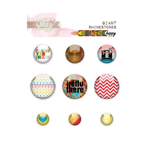 Glitz Design - Color Me Happy Collection - Giant Rhinestones