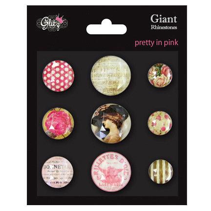 Glitz Design - Pretty in Pink Collection - Giant Rhinestones