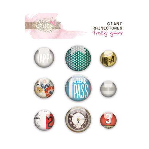 Glitz Design - Yours Truly Collection - Giant Rhinestones