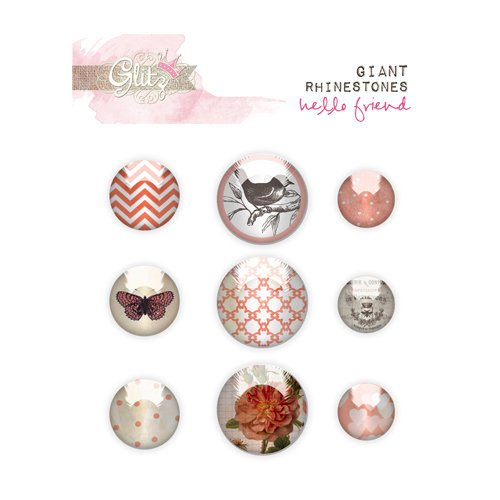 Glitz Design - Hello Friend Collection - Giant Rhinestones